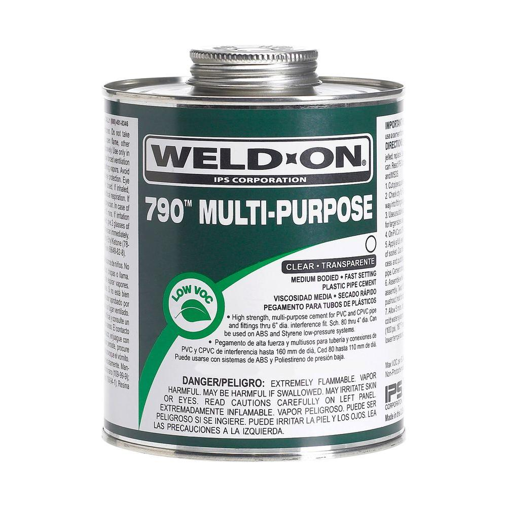 Weld-On 32 oz. PVC 790 Multi Purpose Cement in Clear