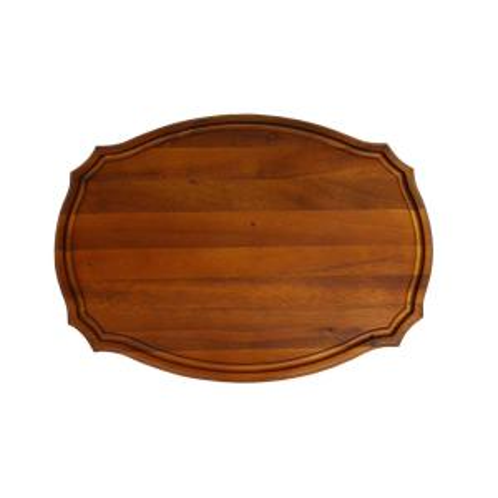 Scranton 15 in. x 11 in. Oval Wood Cutting Board