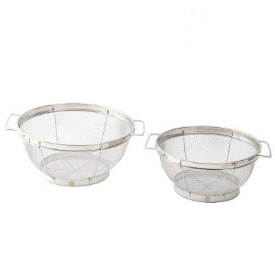 Deveron Mesh Colander with Wire Handles (Set of 2)