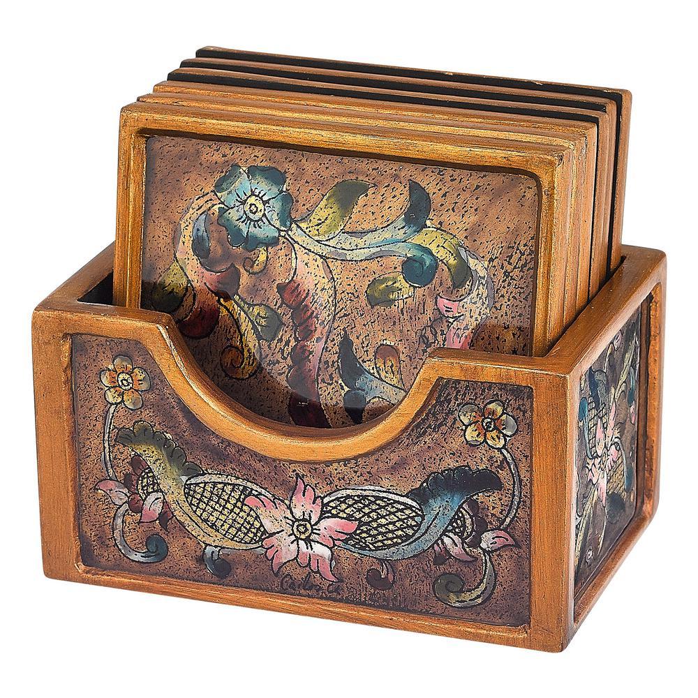 7-Piece Baroque Coaster Set