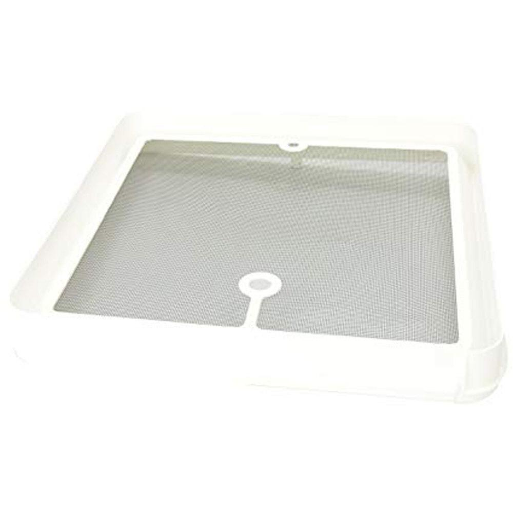 Heng Radius Corner Screen For Jensen Roof Vents White Jrp1124r The Home Depot