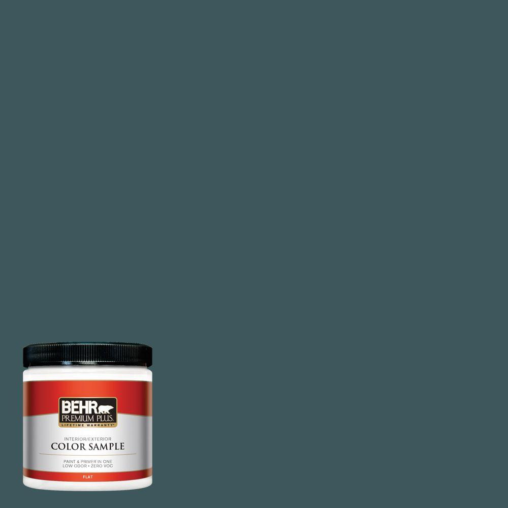 8 oz. #510F-7 Teal Forest Interior/Exterior Paint Sample