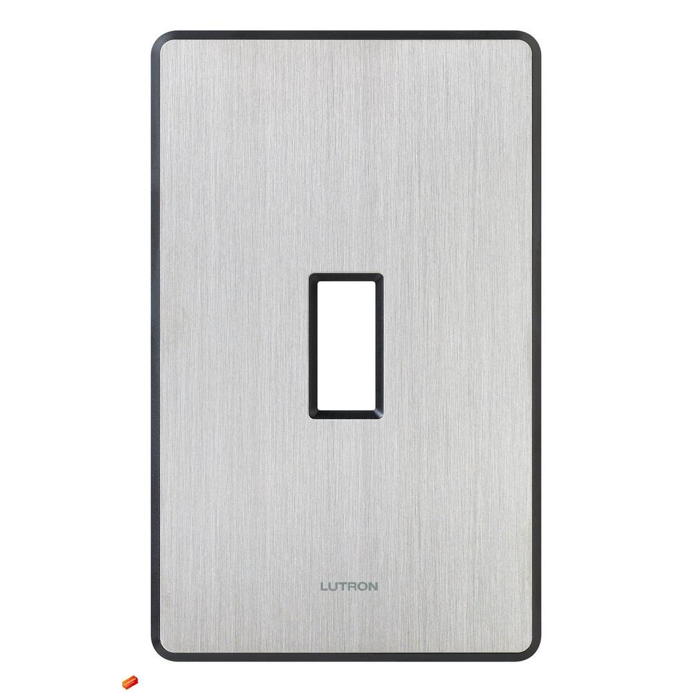 Fassada 1 Gang Wallplate for Toggle-Style Dimmers and Switches, Stainless Steel