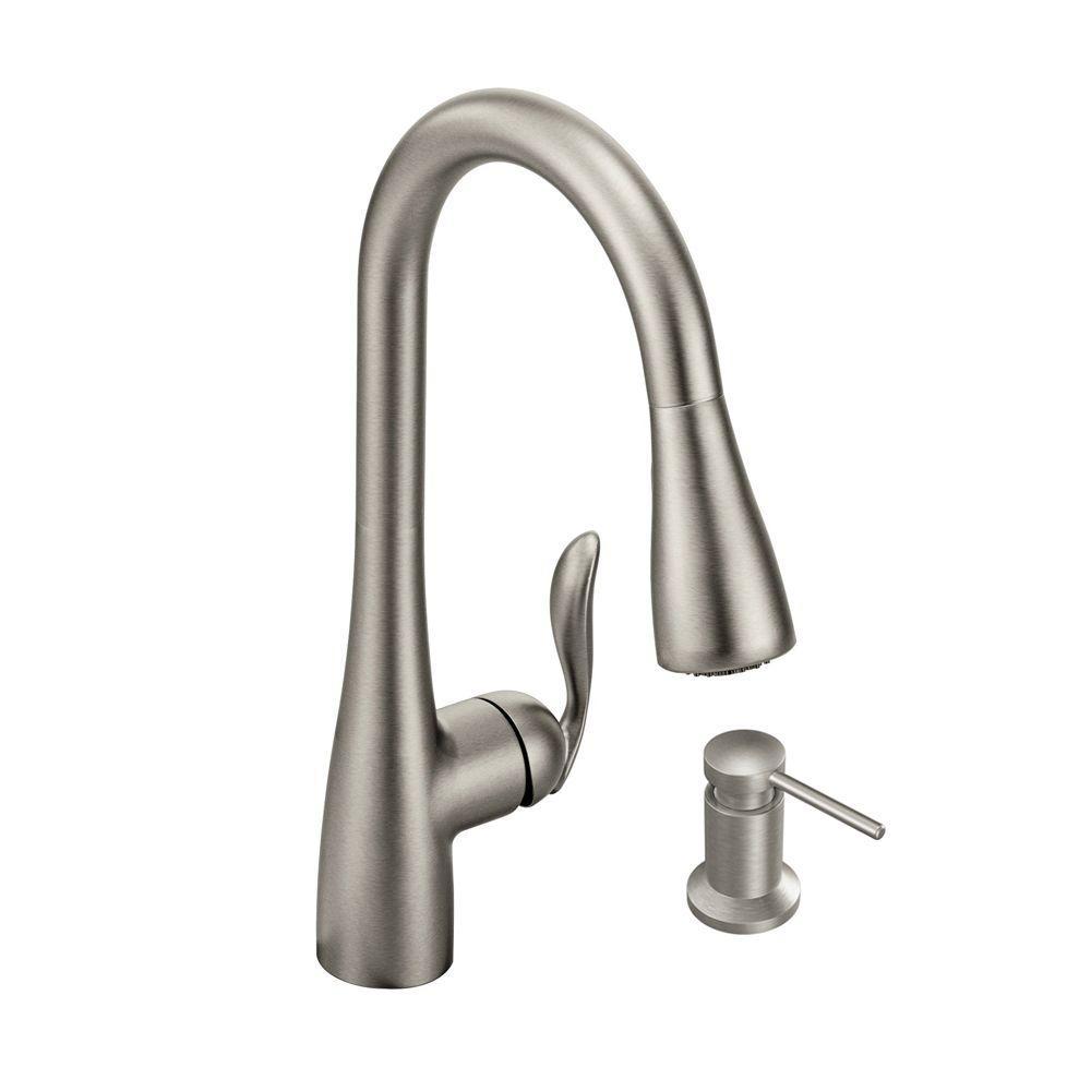 Moen Kitchen Faucet moen brantford single-handle pull-down sprayer kitchen faucet with