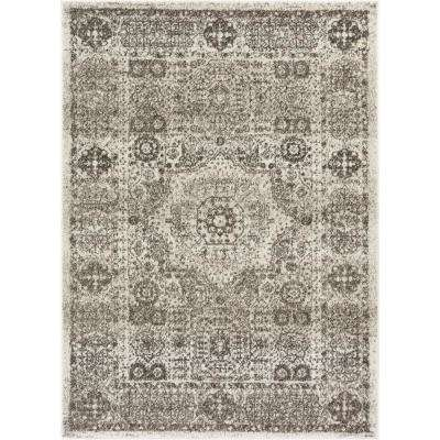 Serenity Millie Ivory Traditional Vintage Medallion 9 ft. 3 in. x 12 ft. 6 in. Area Rug