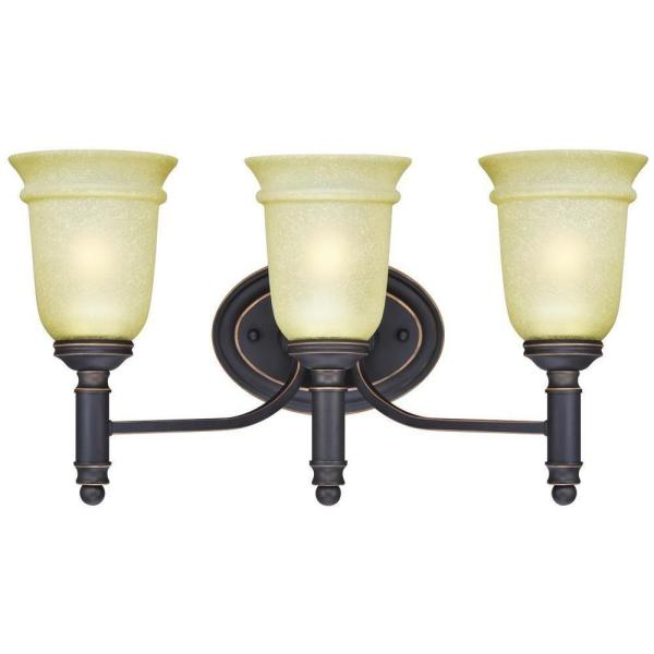 Montrose 3-Light Oil Rubbed Bronze with Highlights Wall Fixture