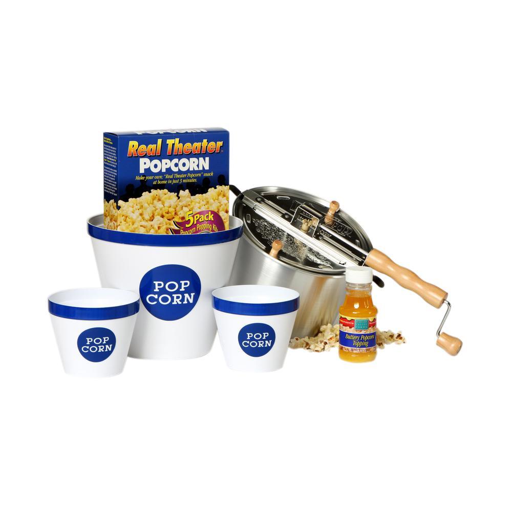 Whirley Pop 10-Piece Aluminum Popcorn Popper Set by Whirley Pop