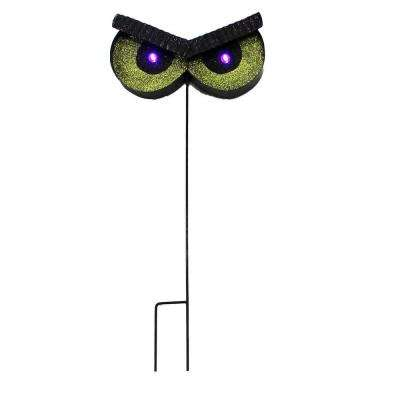24 in. Metal Owl Stake with Flashing LED Eyes