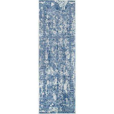 Vintage Odell Light Blue 2 ft. 8 in. x 8 ft. Runner Rug