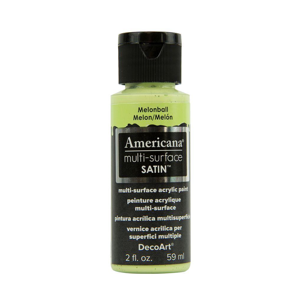 Americana 2 oz. Melonball Satin Multi-Surface Acrylic Paint