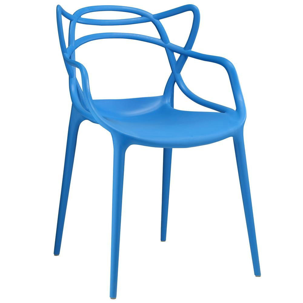 Entangled Blue Dining Arm Chair