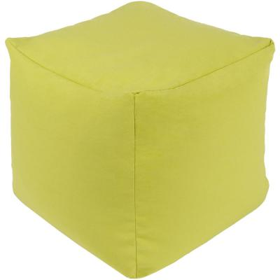 Doralee Accent Pouf in Lime