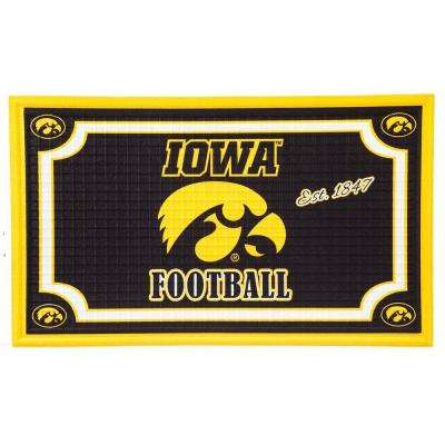 University of Iowa 18 in. x 30 in. Embossed Welcome Mat
