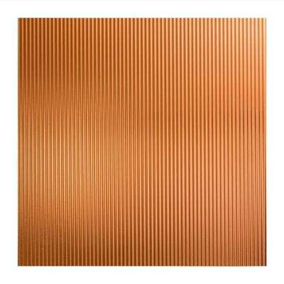 Rib - 2 ft. x 2 ft. Lay-in Ceiling Tile in Polished Copper