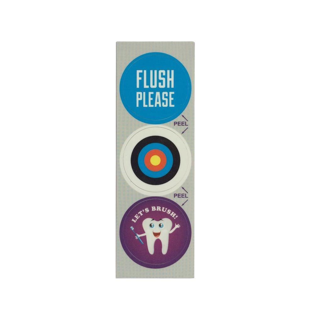 Bathroom Humor Decorative Bathroom Sink Stopper Laminates (Set of 3)