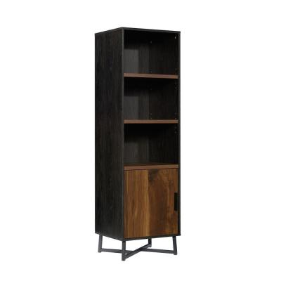 Canton Lane Brew Oak with Grand Walnut Accents 5-Shelf Bookcase with Doors