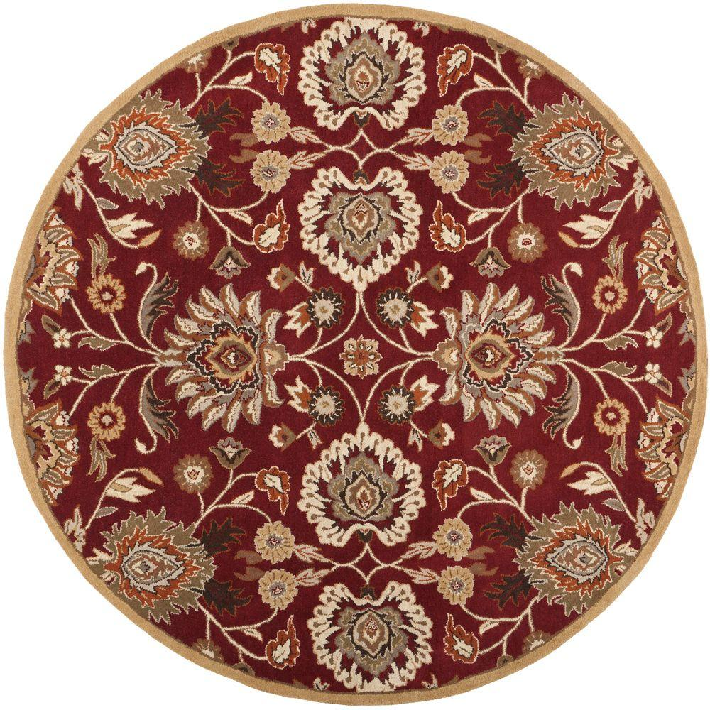 artistic weavers cambrai burgundy 10 ft x 10 ft round indoor area rug s00151006623 the home. Black Bedroom Furniture Sets. Home Design Ideas