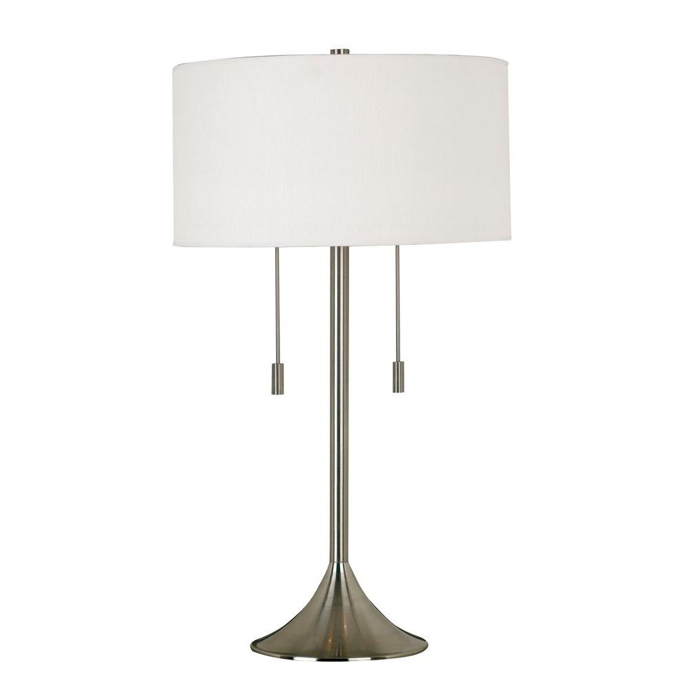 Stowe 30 in. Brushed Steel Table Lamp