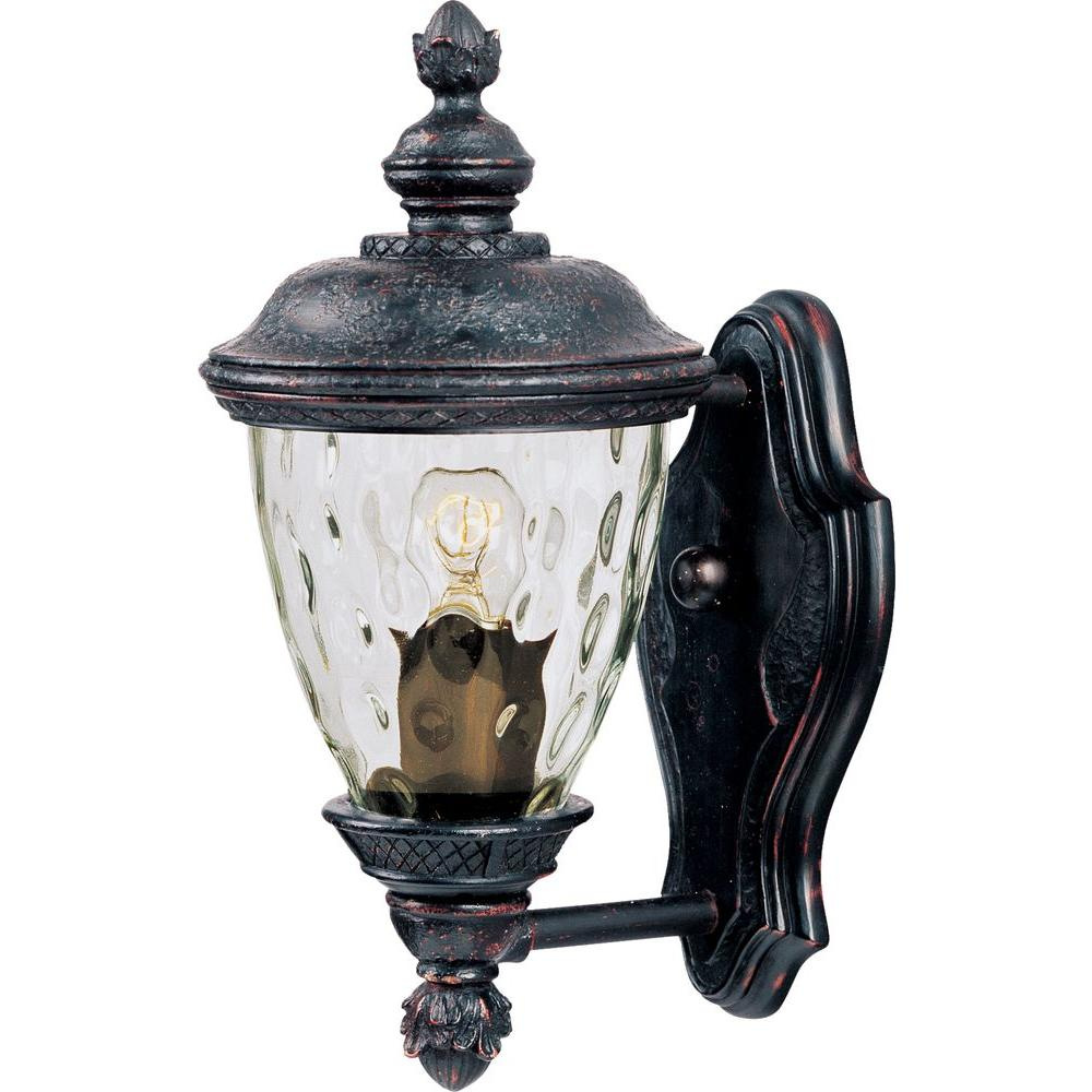 Carriage House Vivex 1-Light Oriental Bronze Outdoor Wall Mount