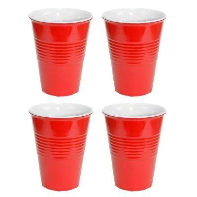 20 oz. Red Hard Plastic Cup (4-pack)