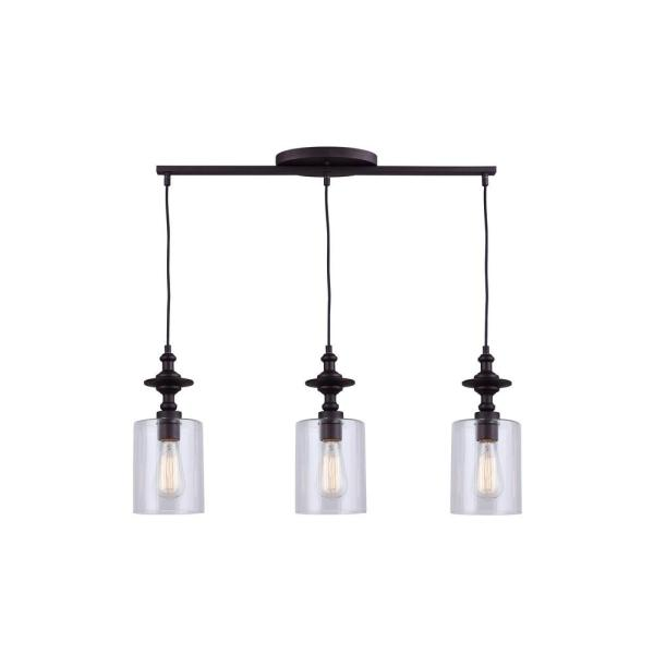 York 3-Light Oil Rubbed Bronze Pendant