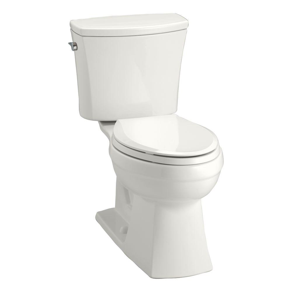KOHLER Kelston Comfort Height 2-Piece 1.6 GPF Single Flush Elongated Toilet with AquaPiston Flushing Technology in White