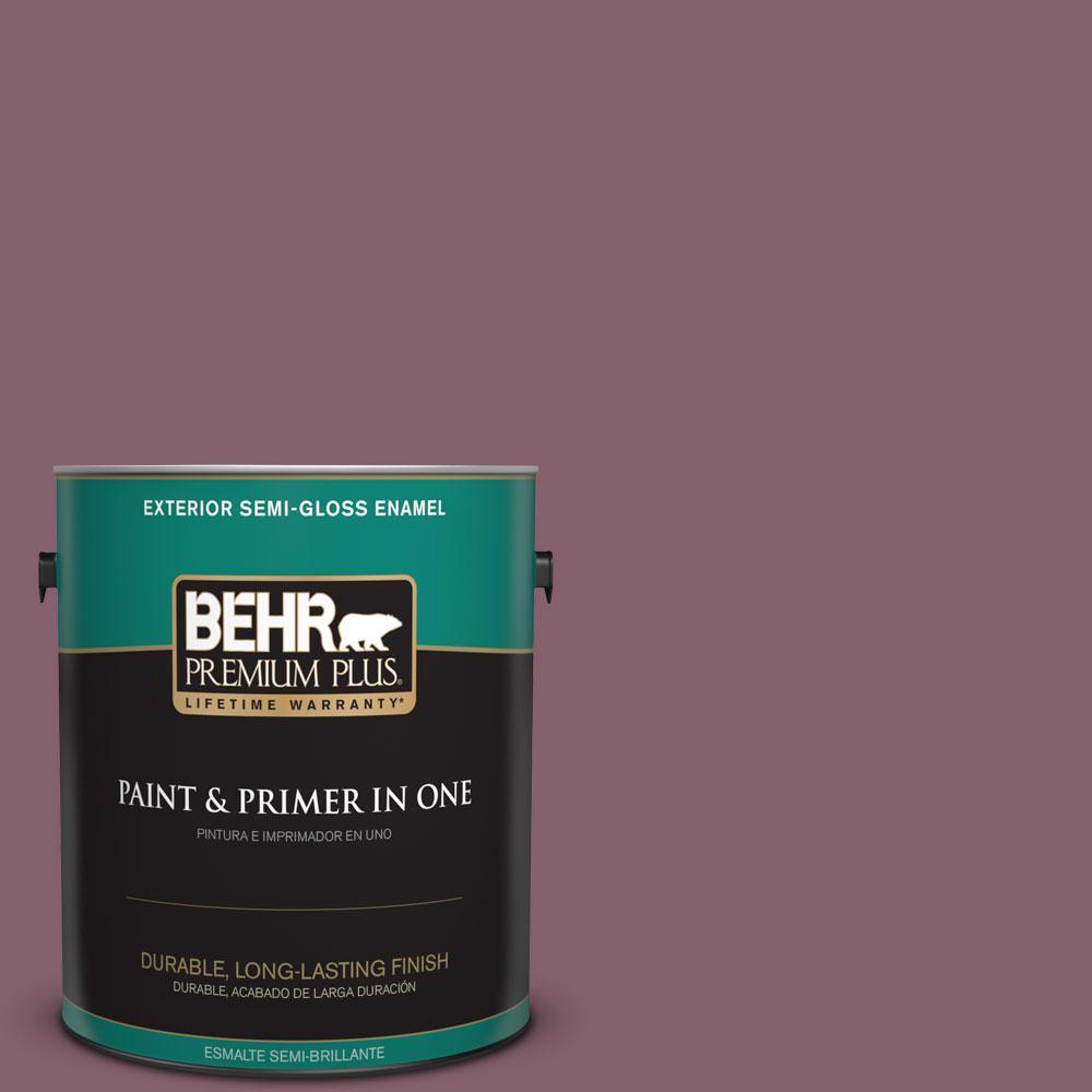 1-gal. #BIC-35 Vintage Plum Semi-Gloss Enamel Exterior Paint