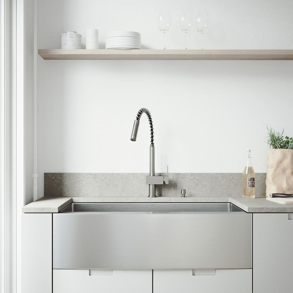 Vigo All In One Farmhouse A Front 36 Single Bowl Kitchen Sink