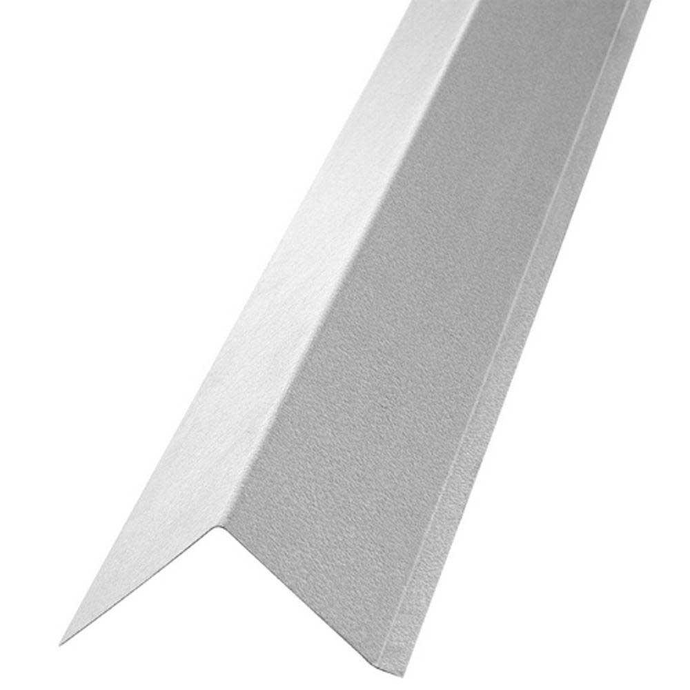 Gibraltar Building Products 1 1 4 In X 1 1 2 In X 10 Ft Galvanized Steel Drip Edge Flashing 15539 The Home Depot