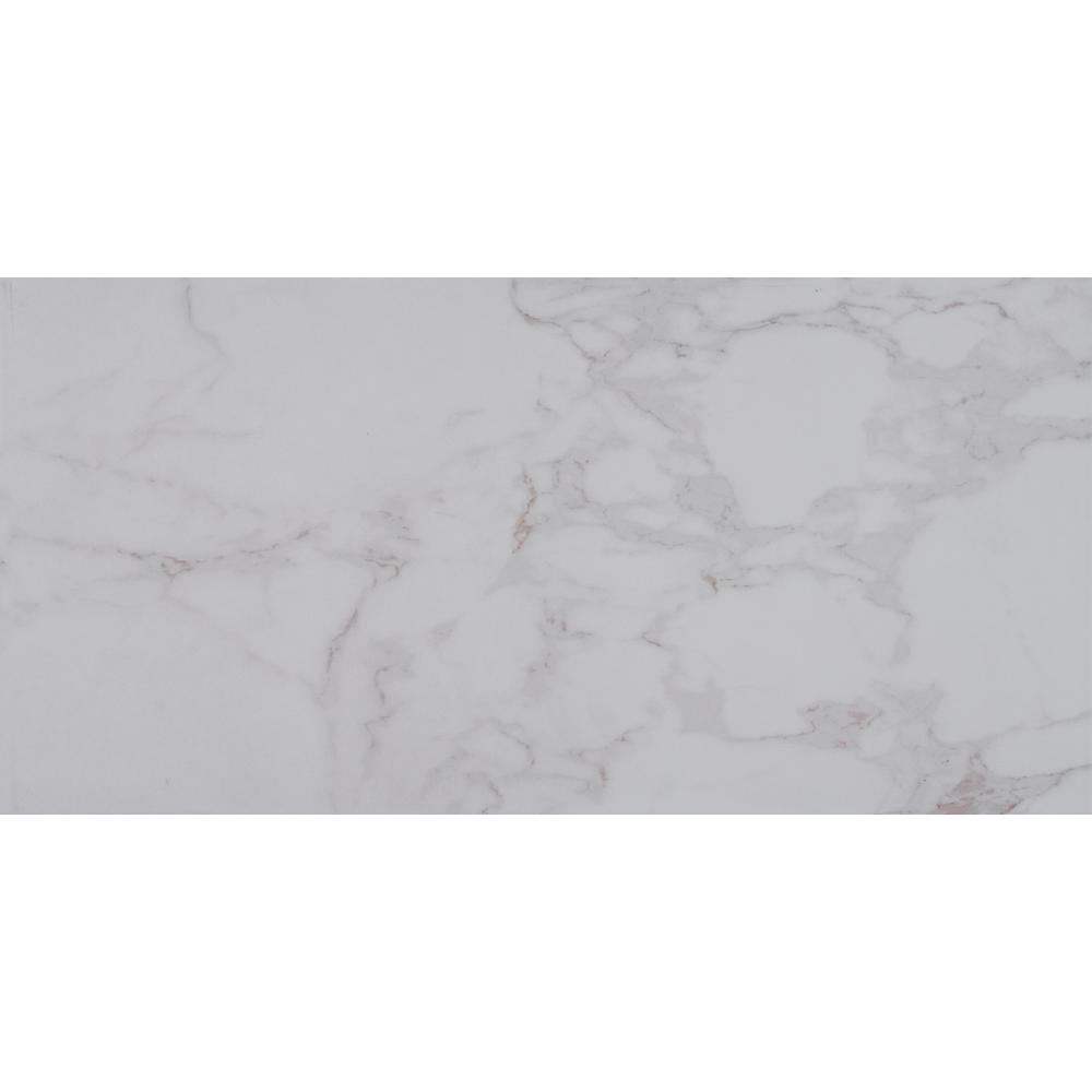 MSI Carrara 12 in. x 24 in. Glazed Porcelain Floor and Wall Tile (16 ...