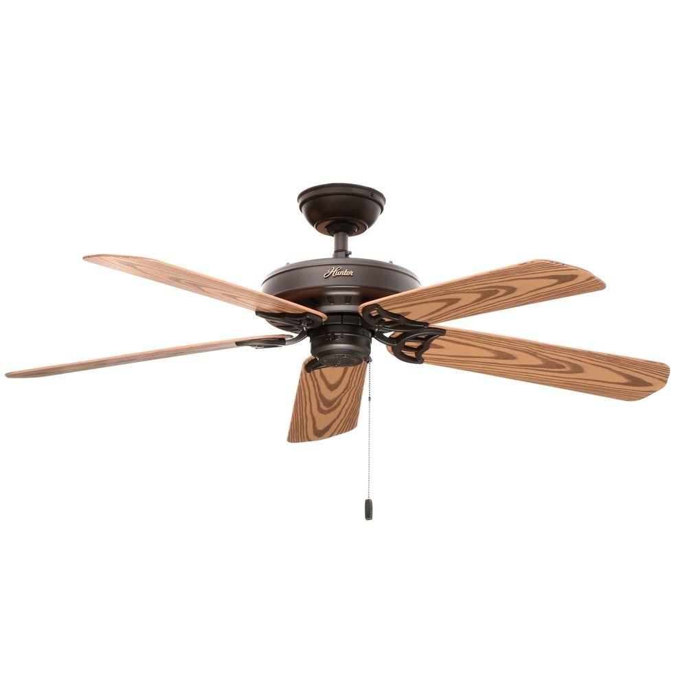 hunter ceiling fans without lights. Hunter Bridgeport 52 In. Indoor/Outdoor New Bronze Ceiling Fan-53126 - The Home Depot Fans Without Lights C
