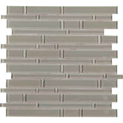 Pebble Interlocking 12 in. x 12 in. x 8 mm Glass Mesh-Mounted Mosaic Tile (10 sq. ft. / case)