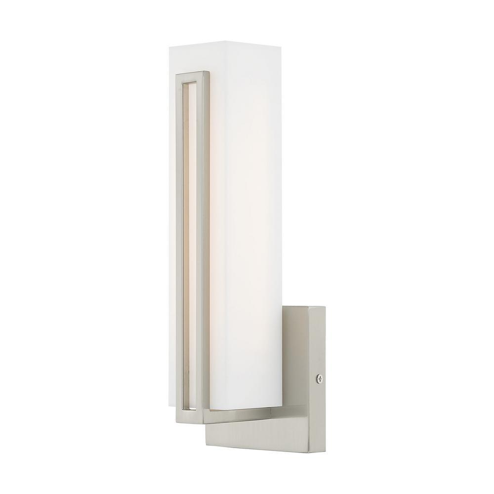 Fulton LED Light Brushed Nickel ADA Wall Sconce