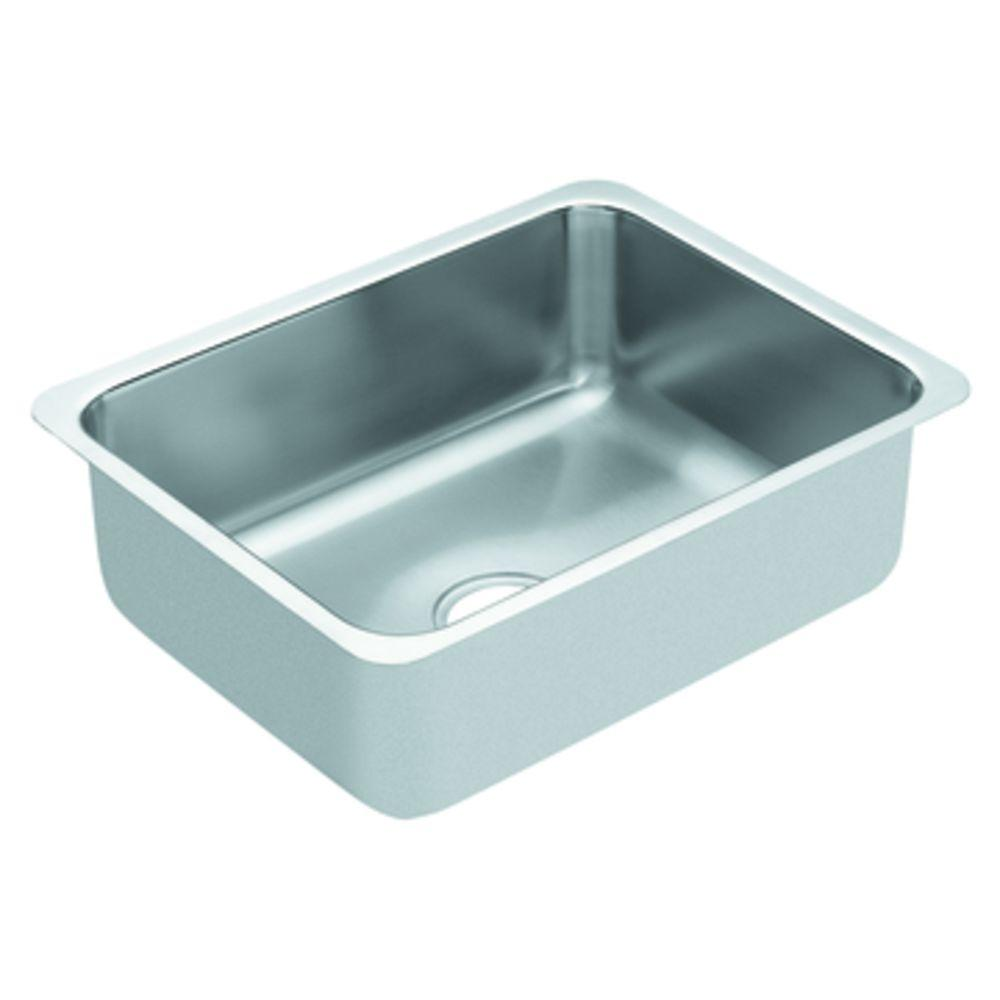 MOEN Lancelot Undermount Stainless Steel 18x23x8 0-Hole Single Bowl Kitchen Sink-DISCONTINUED