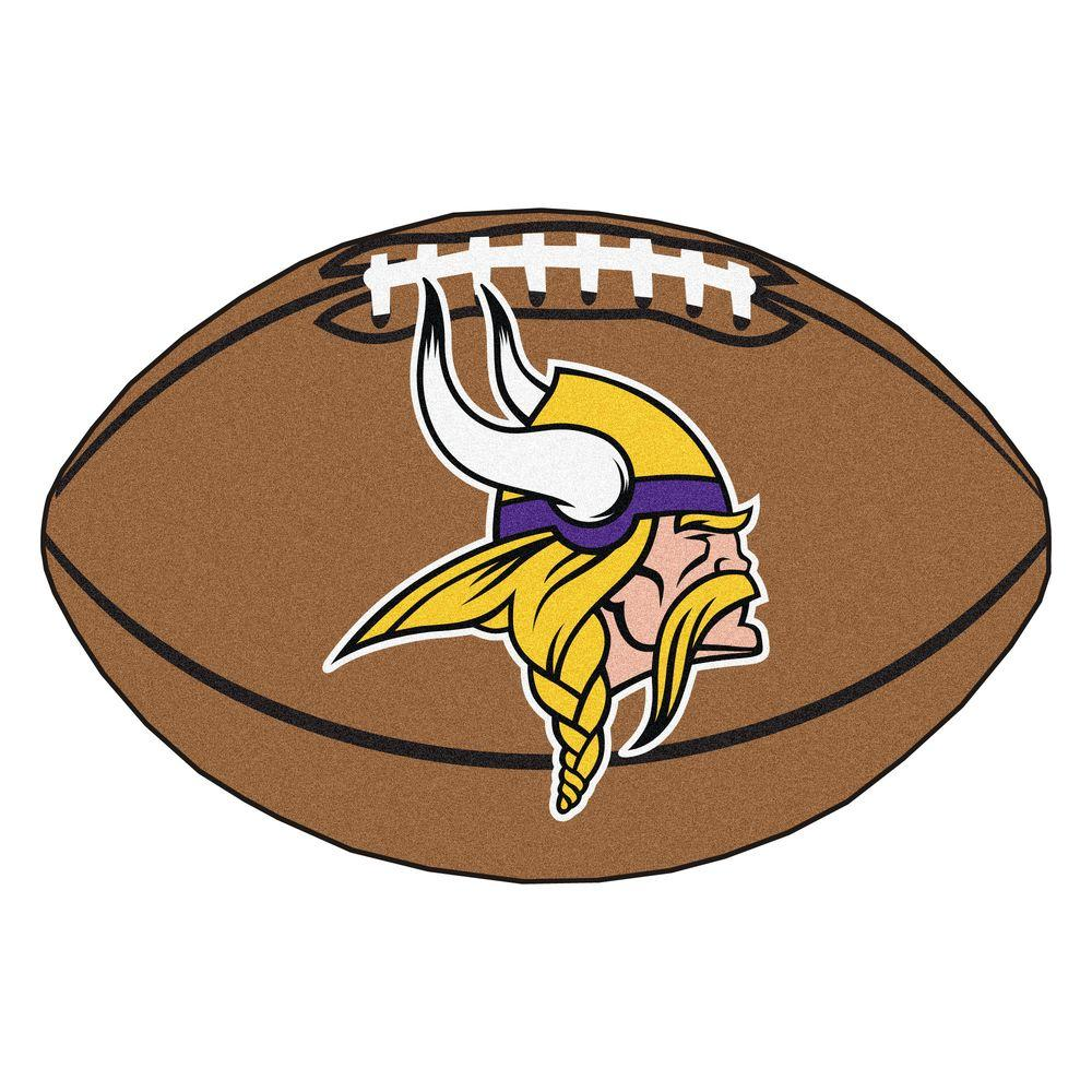Fanmats Nfl Minnesota Vikings Brown 1 Ft 10 In X 2 Ft