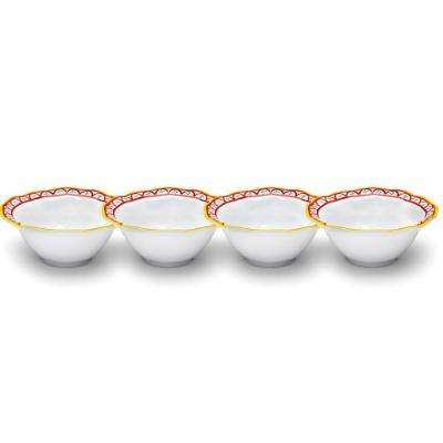 Porto Chal 4-Piece Assorted Colors Melamine Dip Bowl Set