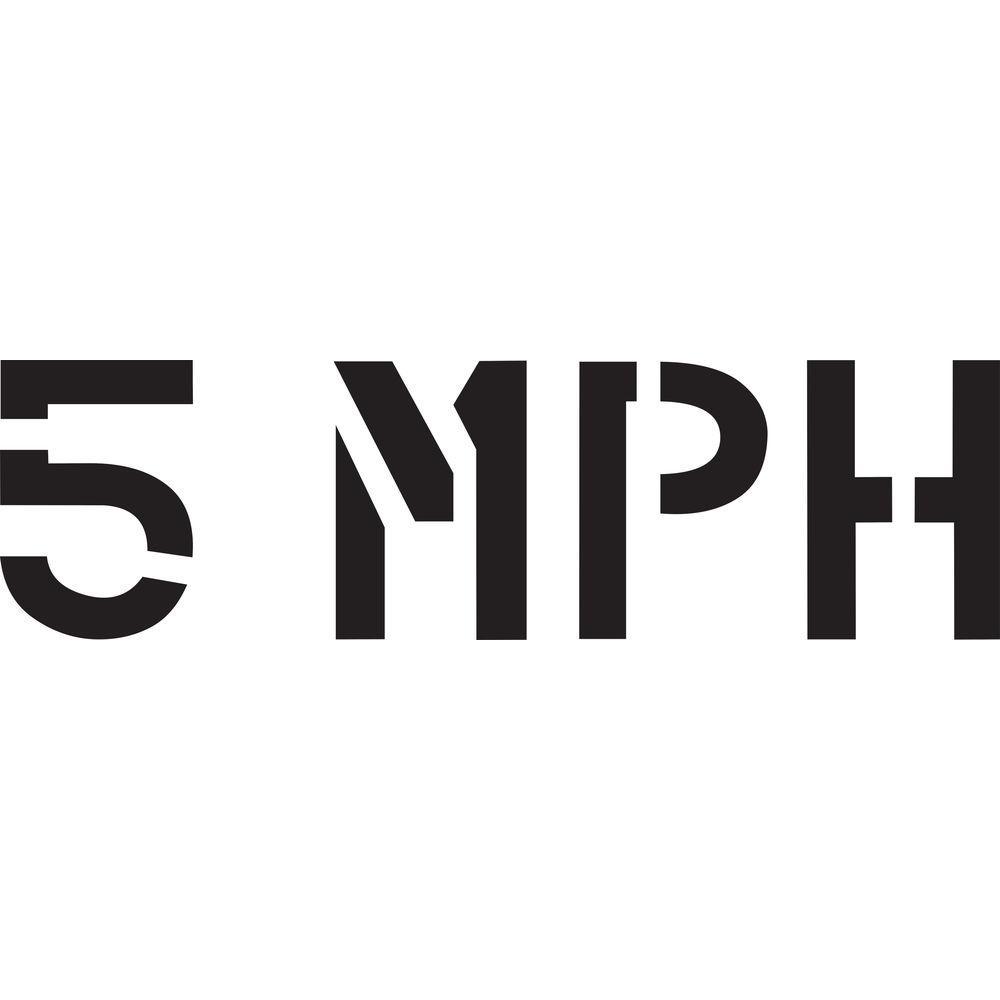 24 in. 5 MPH Stencil