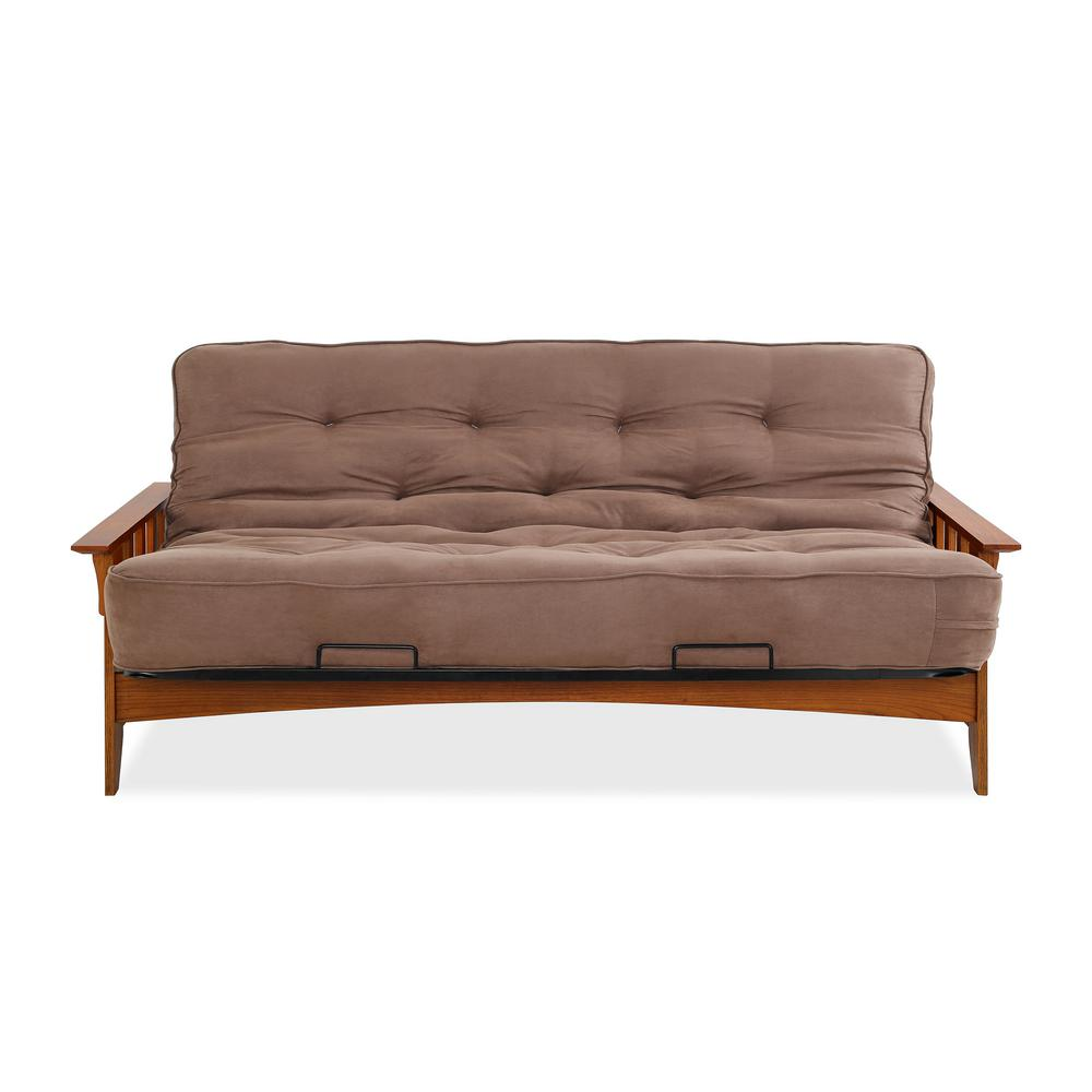 simmons seattle chocolate futon simmons seattle chocolate futon si ex sea vo 2c   the home depot  rh   homedepot
