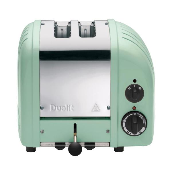 Dualit New Gen 2-Slice Mint Green Wide Slot Toaster with Crumb