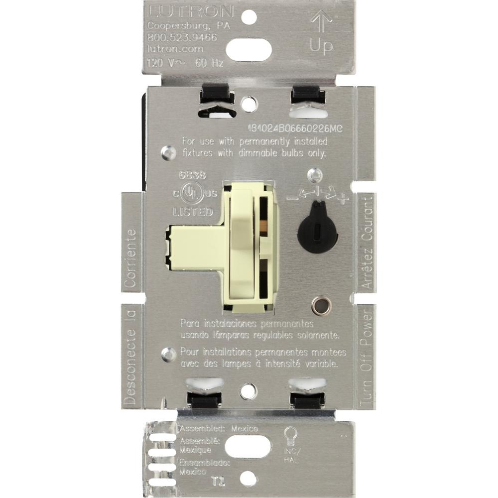 Toggler 600-Watt Single-Pole Magnetic Low-Voltage Dimmer, Almond