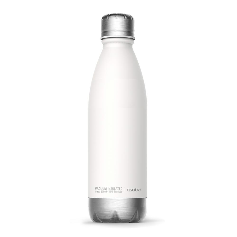 17 oz. White and Silver Central Park Travel Bottle