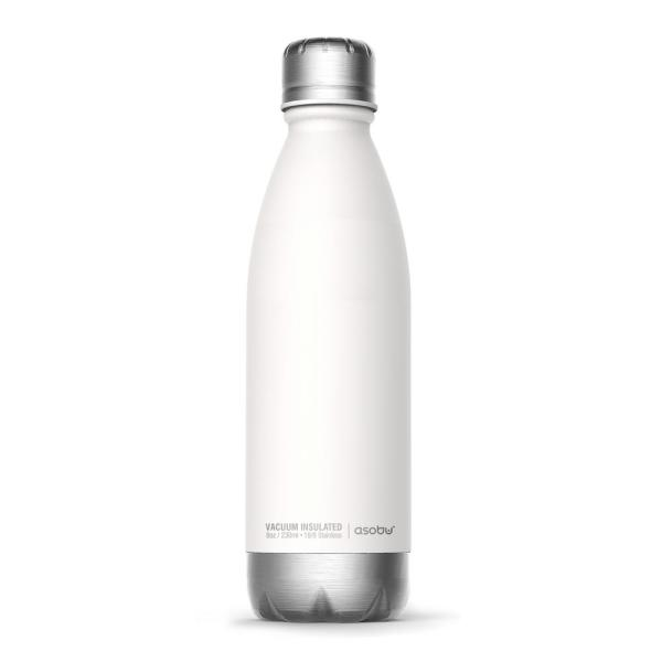 ASOBU 17 oz. White and Silver Central Park Travel Bottle SBV17