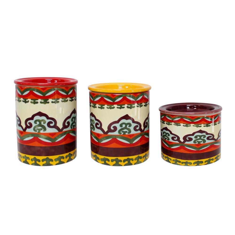 Galicia 3-Piece Ceramic Canister Set
