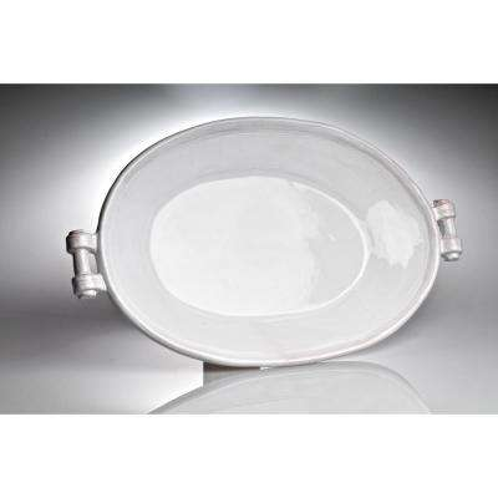 Casa Bianca White Ceramic Platter