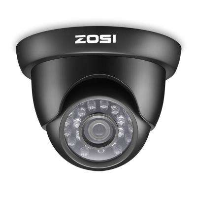 Wired 720p Indoor/Outdoor Dome Security Camera 4-in-1 Compatible for TVI/CVI/AHD/CVBS DVR