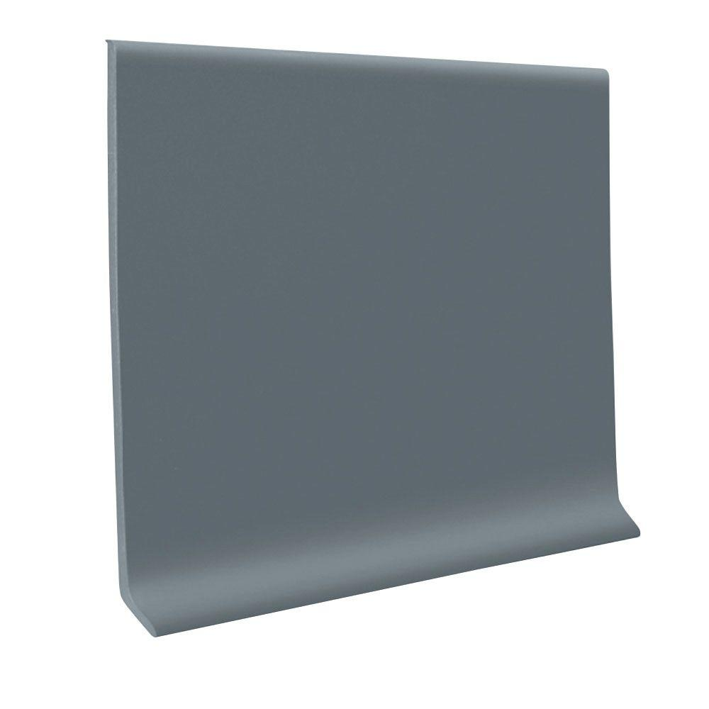 Steel Blue 4 In X 48 In X 1 8 In Vinyl Wall Cove Base