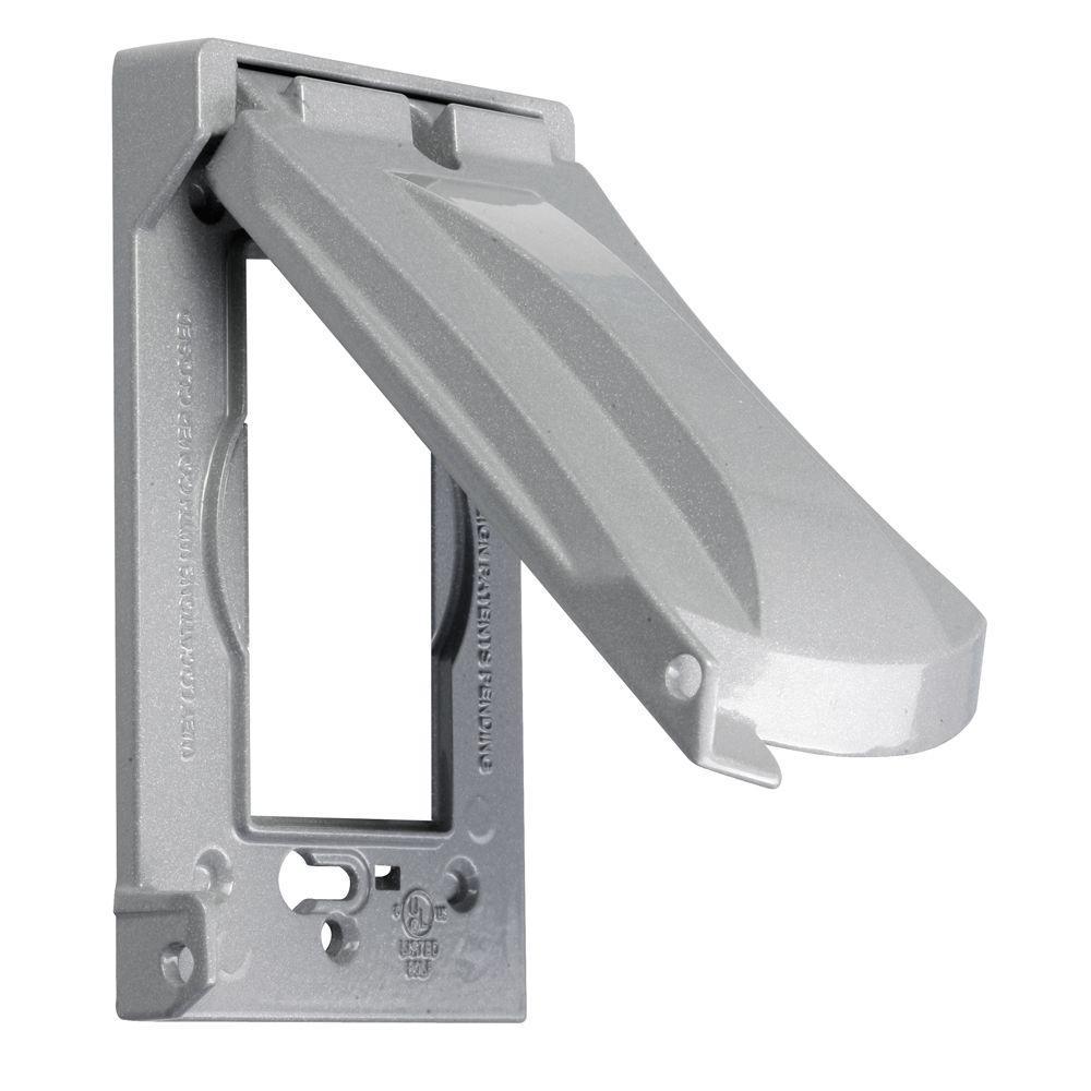 1-Gang Horizontal or Vertical Mount Weatherproof Flip Lid Device Cover