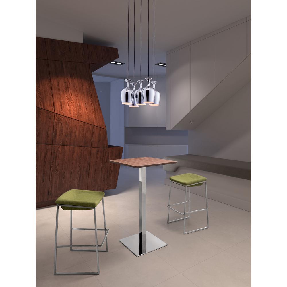 Ice 5-Light Chrome Ceiling Lamp