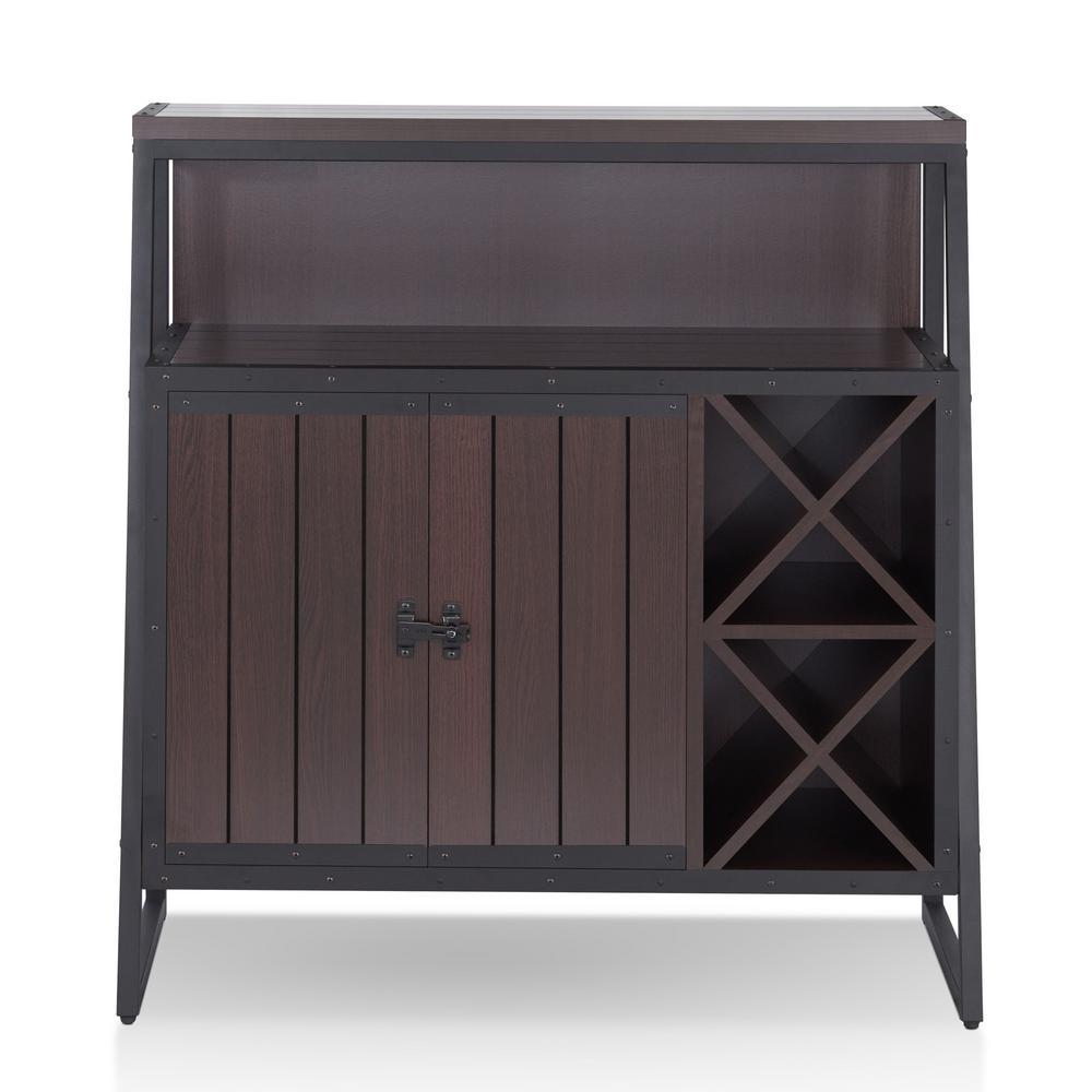 Furniture of America Gregers Walnut Buffet Furniture