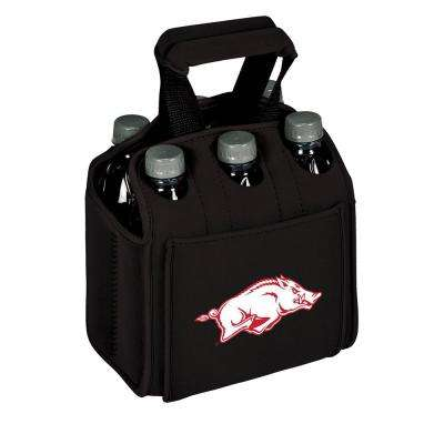 University of Arkansas Razorbacks 6-Bottles Black Beverage Carrier